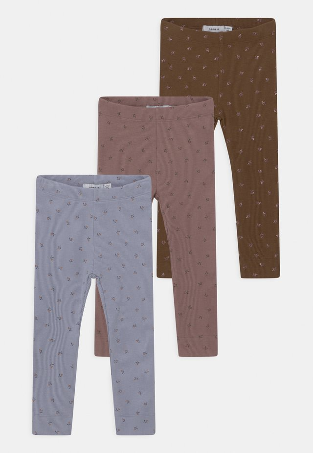 NBFDAISIA 3 PACK - Leggings - Trousers - aleutian/desert palm