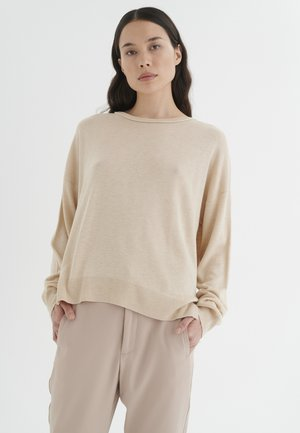 INNESIW SLIT - Pullover - powder beige