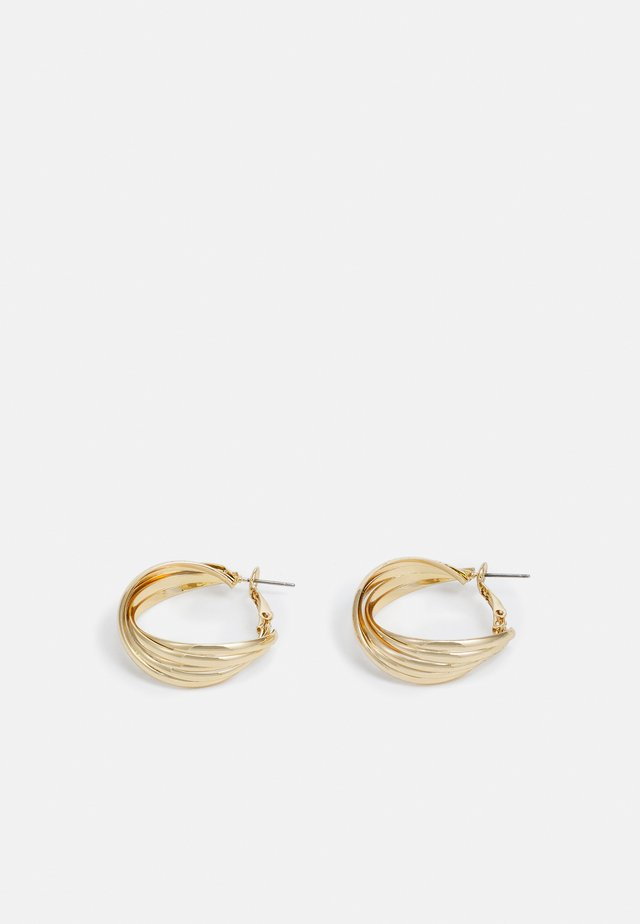 CORREGATED TWIST HOOP - Korvakorut - gold-coloured
