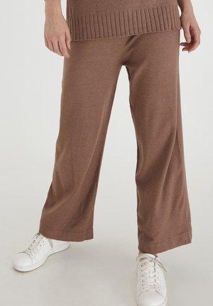 BYMILO - Tracksuit bottoms - brownie melange