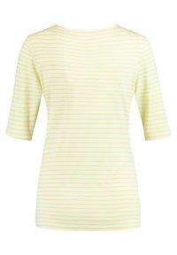 Gerry Weber - 1/2 ARM GERINGELTES - Print T-shirt - ecru/weiss/gelb ringel - 4