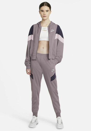 HERITAGE - Zip-up sweatshirt - purple smoke/dark raisin/pink foam