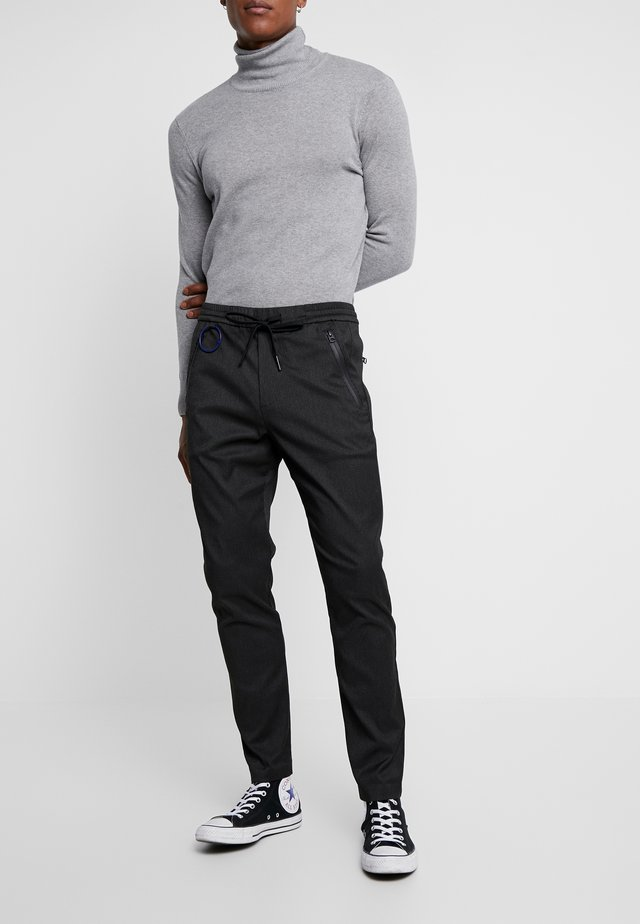 Trousers - black/military