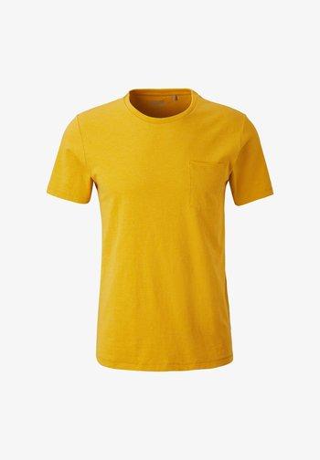 Basic T-shirt - yellow melange