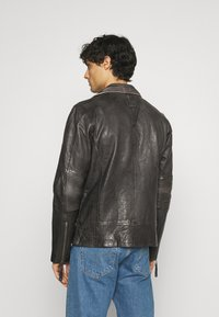 Freaky Nation - CHACCO - Leather jacket - dark anthra - 2