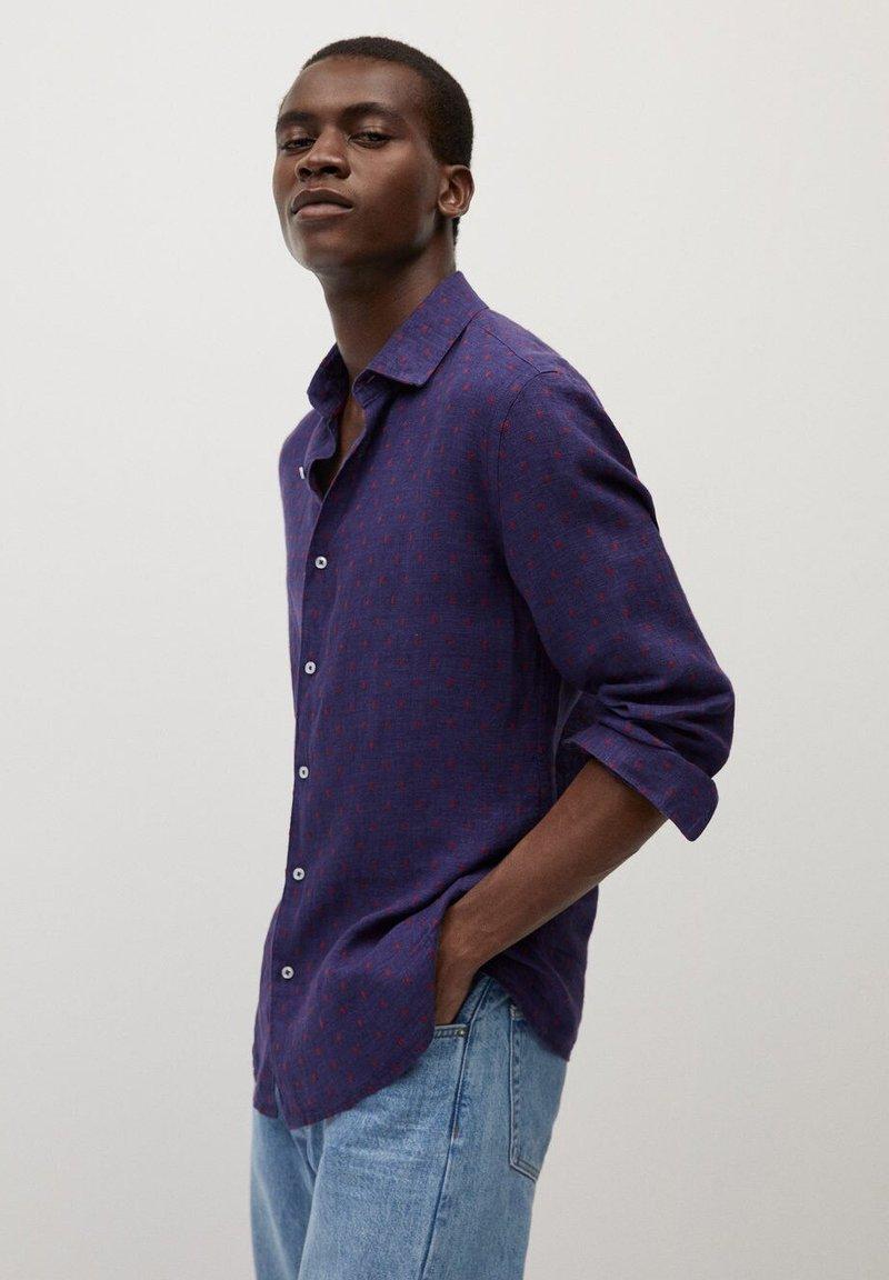 Mango - TEN - Shirt - dunkles marineblau
