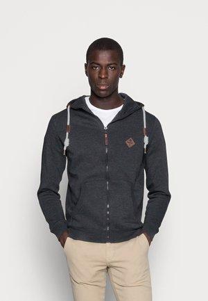 QUINBY - Zip-up sweatshirt - charcoal mix