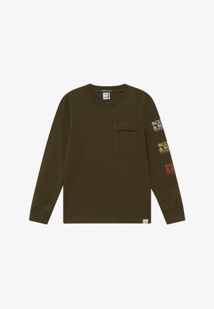 LONG SLEEVE TEE IN ORGANIC COTTON QUALITY WITH ARTWORKS - Maglietta a manica lunga - military