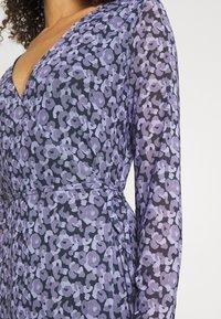 NA-KD - OVERLAP MIDI DRESS - Maxi dress - purple - 4