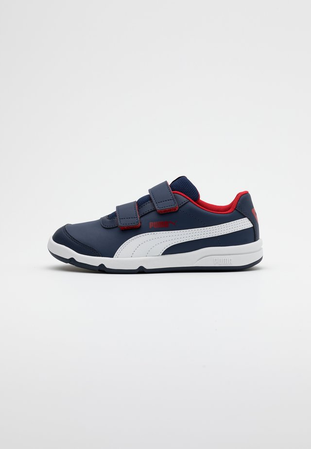 STEPFLEEX 2  - Sports shoes - peacoat/white/flame scarlet