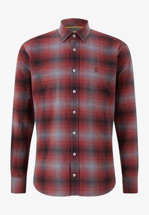 Shirt - rot/grau/schwarz