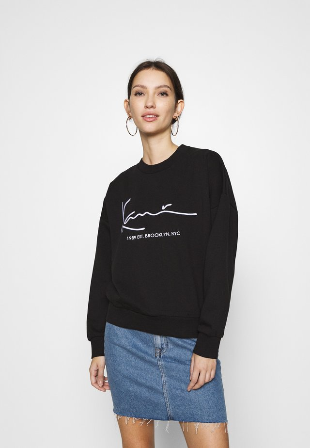 SIGNATURE CREW - Sweatshirt - black