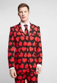 OppoSuits - KING OF HEARTS SUIT SET - Suit - black/red - 2
