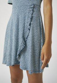 PULL&BEAR - Day dress - stone blue denim - 4
