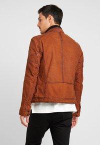 Oakwood - JAYDEN - Leather jacket - whisky - 2