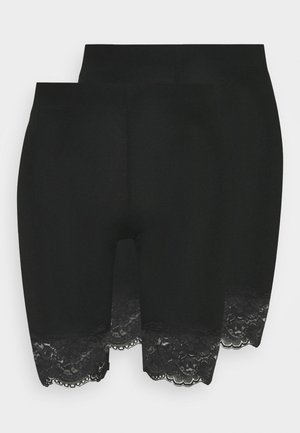 BASIC BIKER LACE 2 PACK - Shorts - black