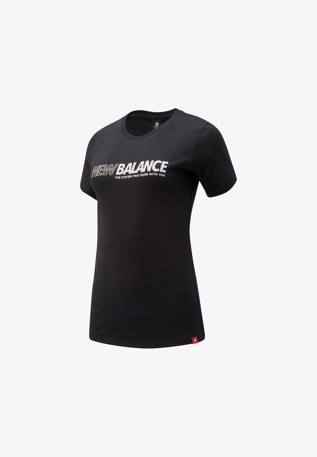 ESSENTIALS SPEED TEE - T-shirt print - black