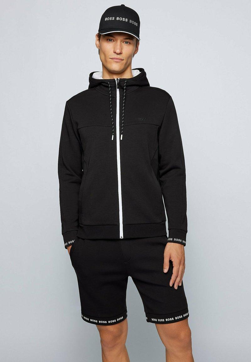 BOSS - SAGGY  - Zip-up sweatshirt - black