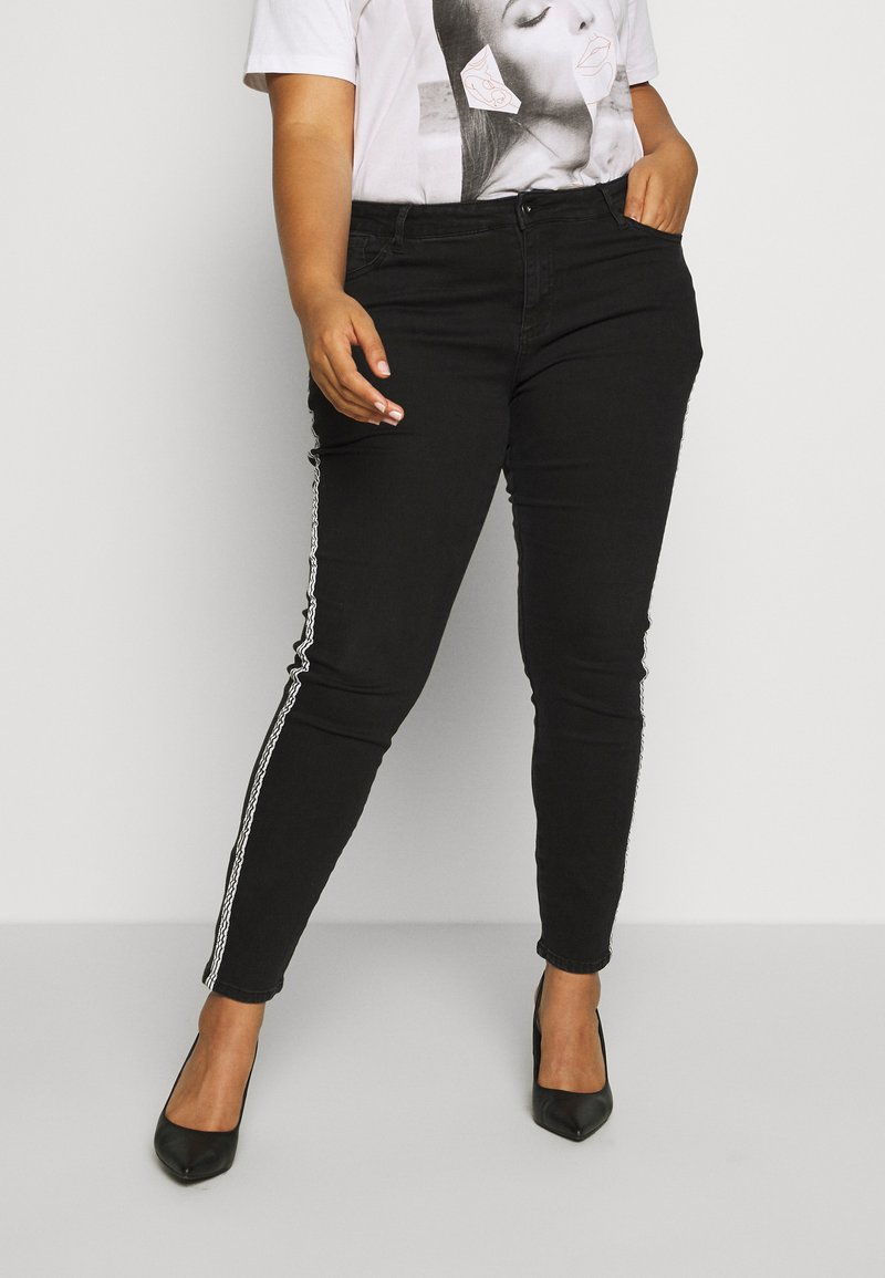 Ciso - 7/8 WITH SIDE-STRIPE - Jeans Skinny Fit - black