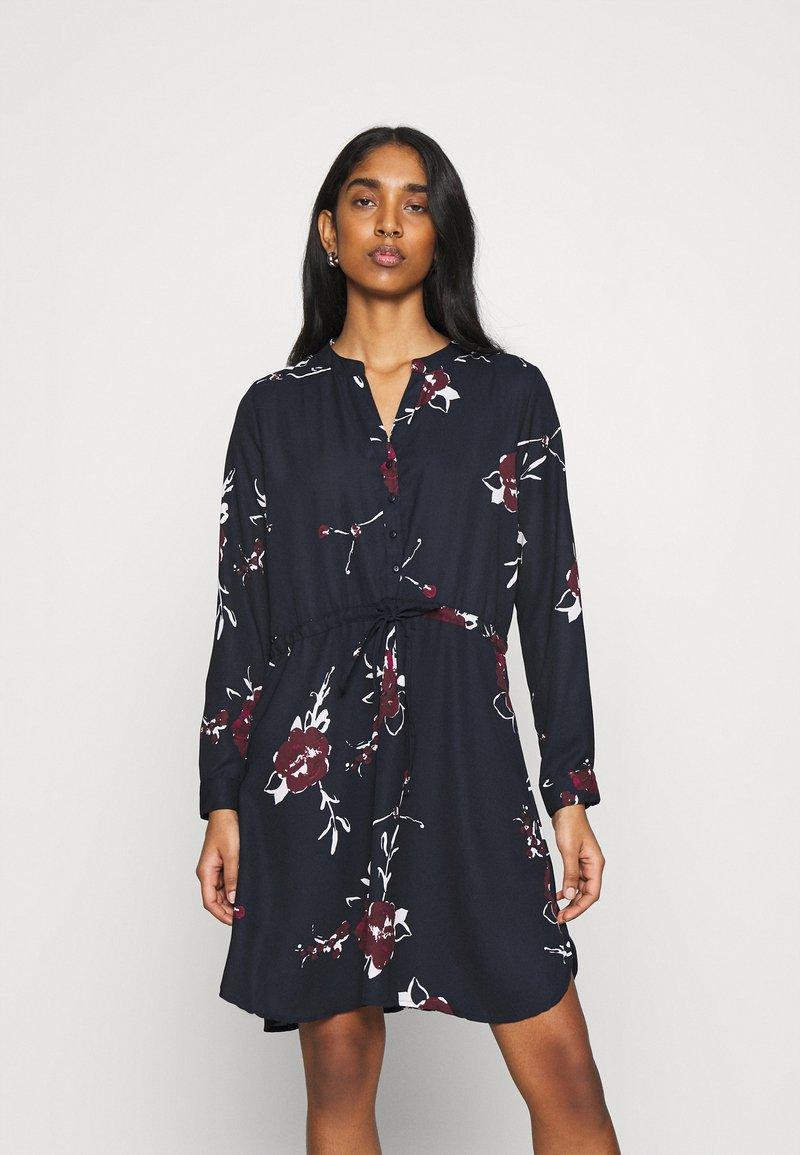 ONLY - ONLCORY V NECK TUNIC - Shirt dress - dark blue