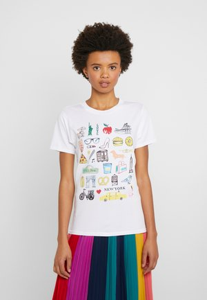 DESTINATION TEE - Print T-shirt - white