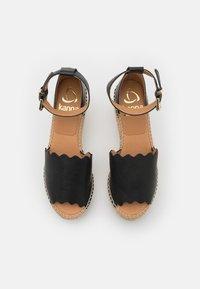 Kanna - CAPRI - Platform sandals - schwarz - 5