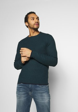 Strickpullover - midnight navy/teal