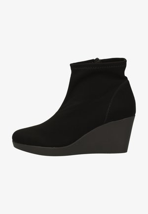 High heeled ankle boots - black nk
