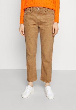 LEORR WASH - Jeansy Straight Leg - light brown