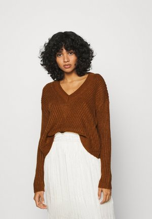 ONYVIVIA - Strickpullover - ginger bread