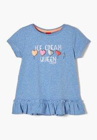 s.Oliver - Print T-shirt - light blue melange - 2
