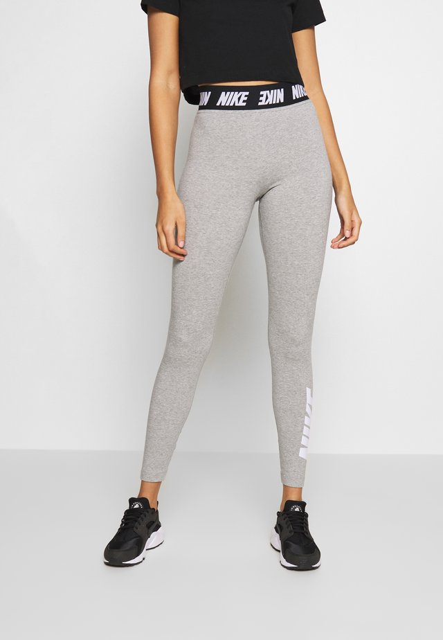 CLUB  - Leggings - dark grey heather/white