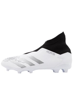 FOOTBALL BOOTS FIRM GROUND - Moulded stud football boots - footwear white/silver metallic/core black