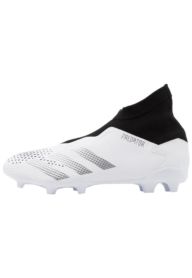 FOOTBALL BOOTS FIRM GROUND - Fodboldstøvler m/ faste knobber - footwear white/silver metallic/core black