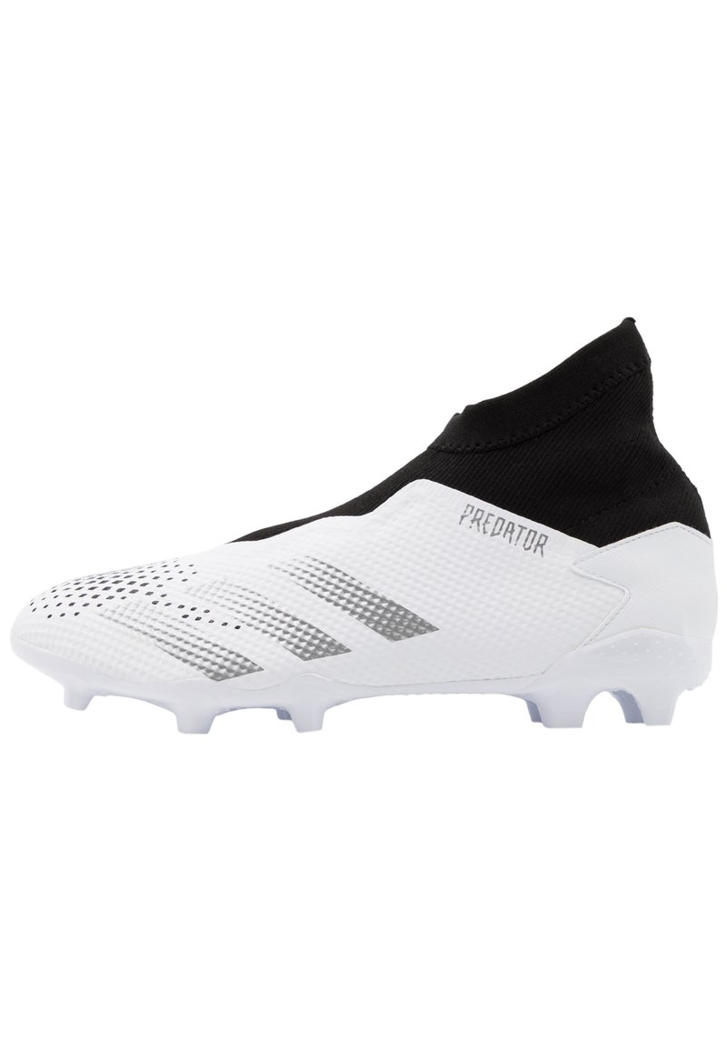 adidas Performance - FOOTBALL BOOTS FIRM GROUND - Voetbalschoenen met kunststof noppen - footwear white/silver metallic/core black