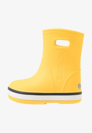 CROCBAND RAIN BOOT - Regenlaarzen - yellow/navy