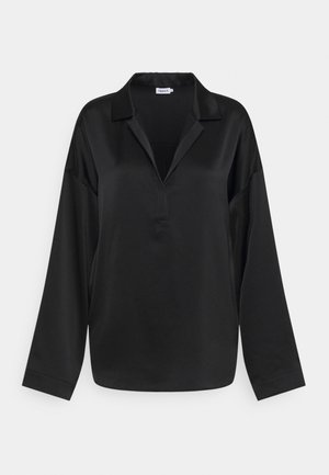 LOVISA - Button-down blouse - black