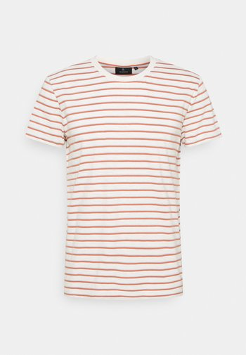 CASUAL #STRIPES - Print T-shirt - light creme