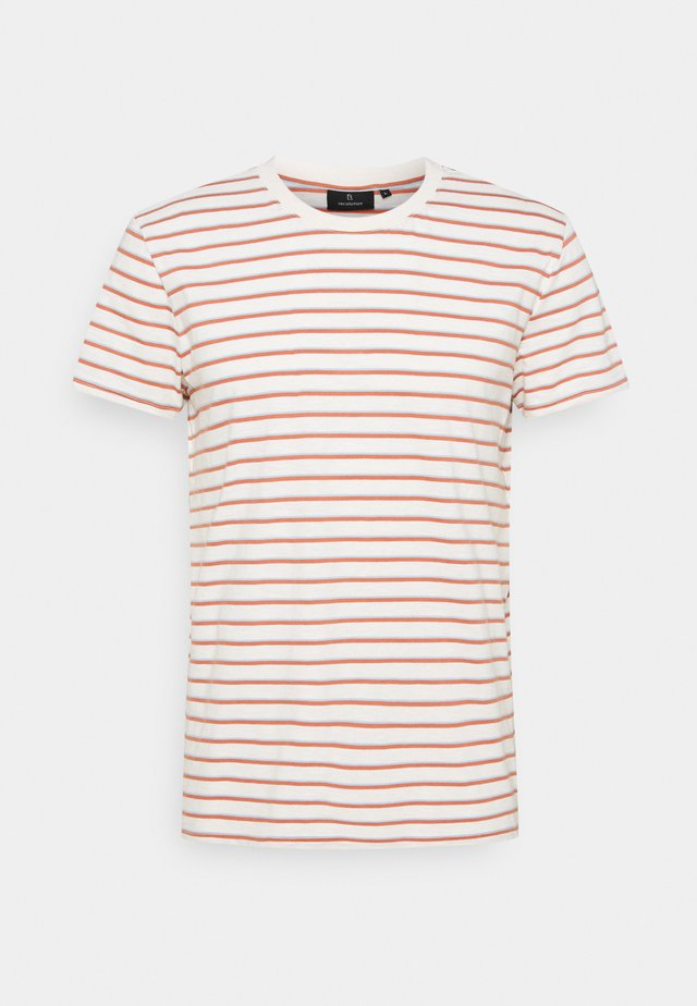 CASUAL #STRIPES - Triko s potiskem - light creme