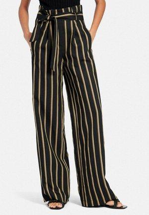 CORNELIA - Trousers - schwarz/multicolor