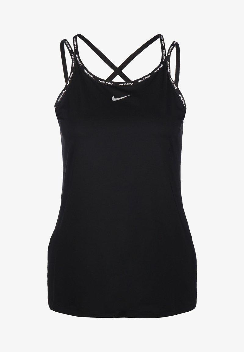 Nike Performance - ELASTIKA - T-shirt sportiva - black/metallic silver