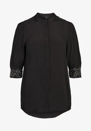 MIT PERLEN - Overhemdblouse - black