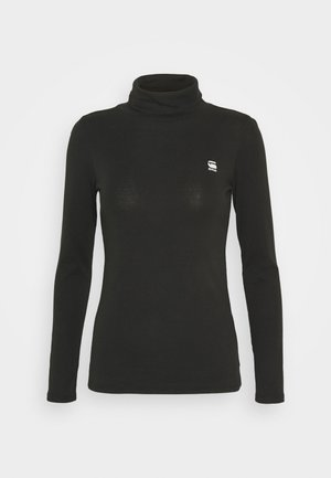 XINVA SLIM TURTLE LONG SLEEVE C - Langærmede T-shirts - black