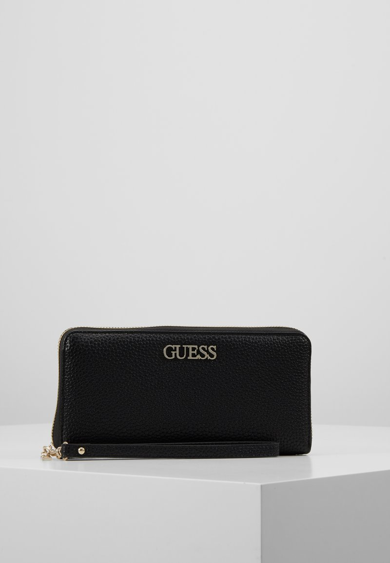 Guess - ALBY SLG LARGE ZIP AROUND - Wallet - black