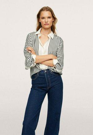 OVERSIZE À RAYURES - Button-down blouse - gebroken wit