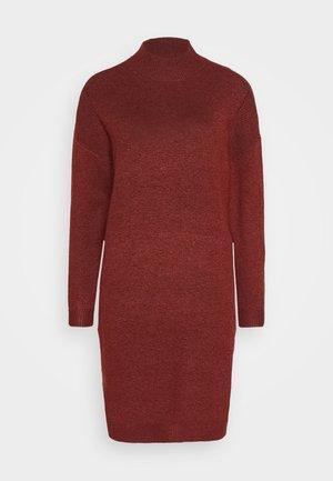 ONLPRIME DRESS - Sukienka dzianinowa - fired brick melange