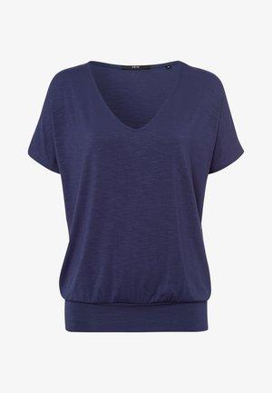 Print T-shirt - velvet blue