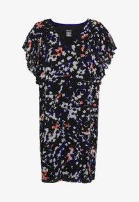 DKNY - VNECK DRESS RUFFLE - Kjole - black/multi - 3