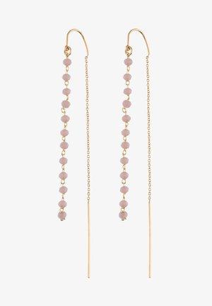 MIT GLASSTEINEN IN GLANZ-OPTIK - Earrings - goldfarben