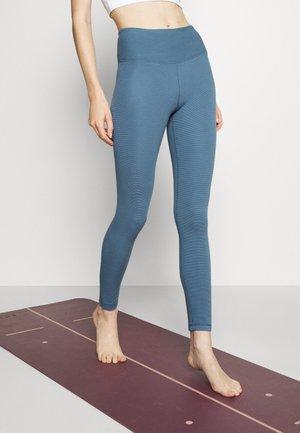 WAFFLE FULL LENGTH - Legging - copen blue
